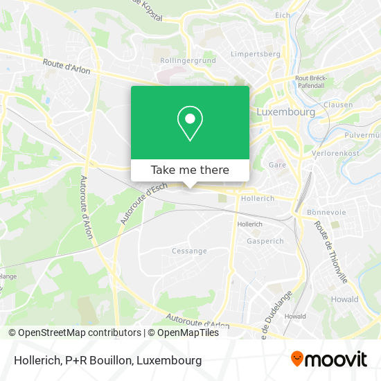 Hollerich, P+R Bouillon map