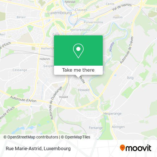Rue Marie-Astrid map