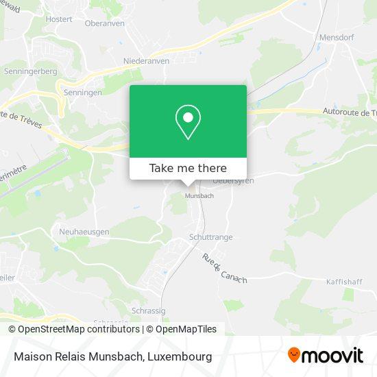 Maison Relais Munsbach map