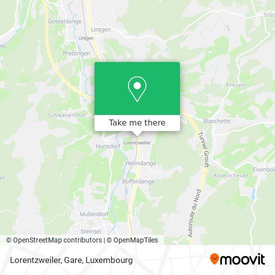 Lorentzweiler, Gare map