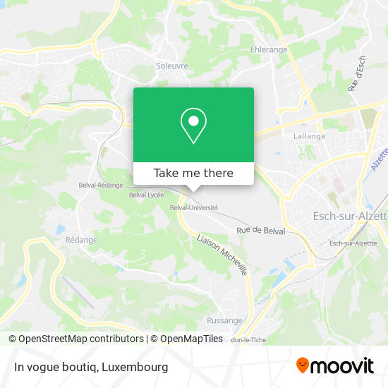 In vogue boutiq map