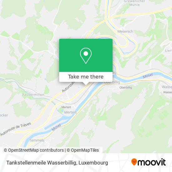 Tankstellenmeile Wasserbillig map
