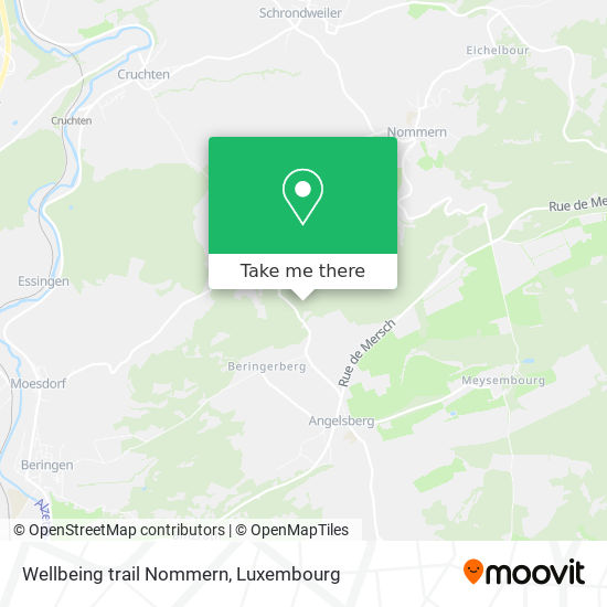 Wellbeing trail Nommern map