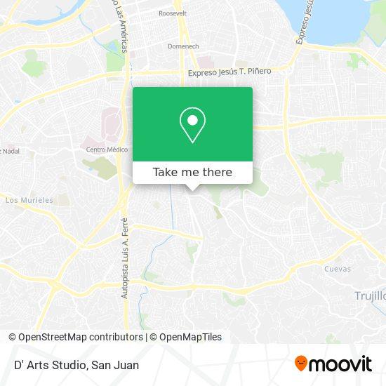 D' Arts Studio map