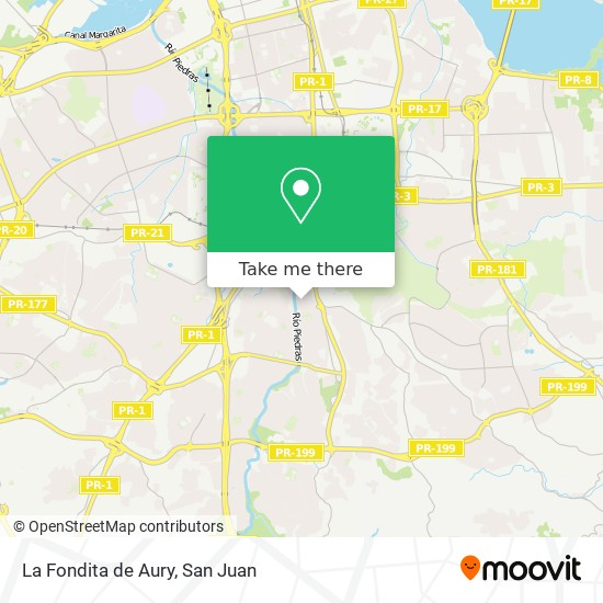 La Fondita de Aury map