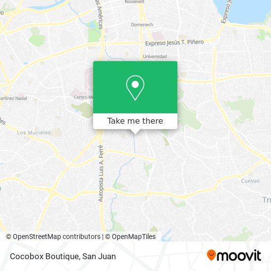 Cocobox Boutique map