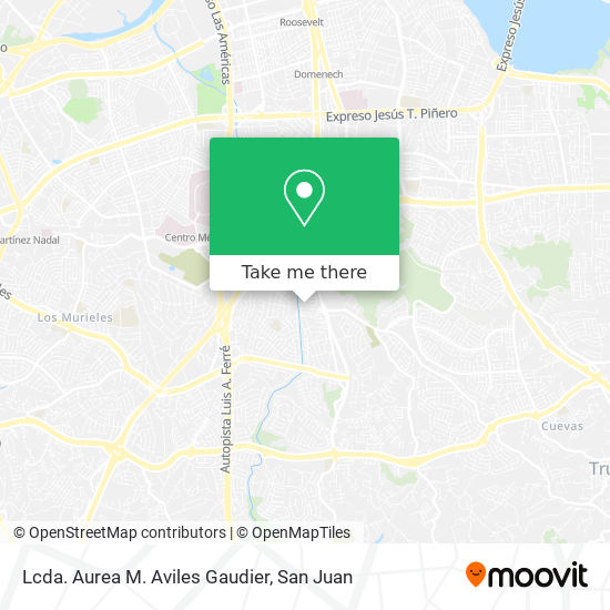 Lcda. Aurea M. Aviles Gaudier map