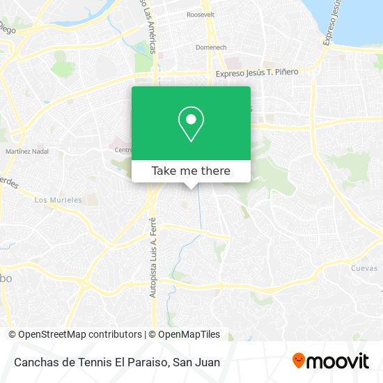 Canchas de Tennis El Paraiso map