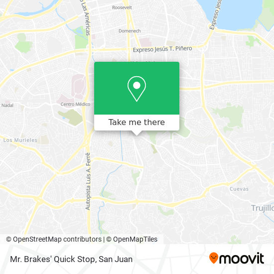 Mr. Brakes' Quick Stop map