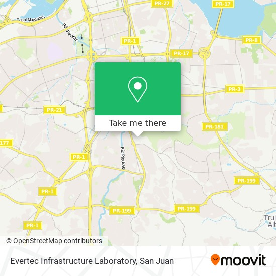 Evertec Infrastructure Laboratory map