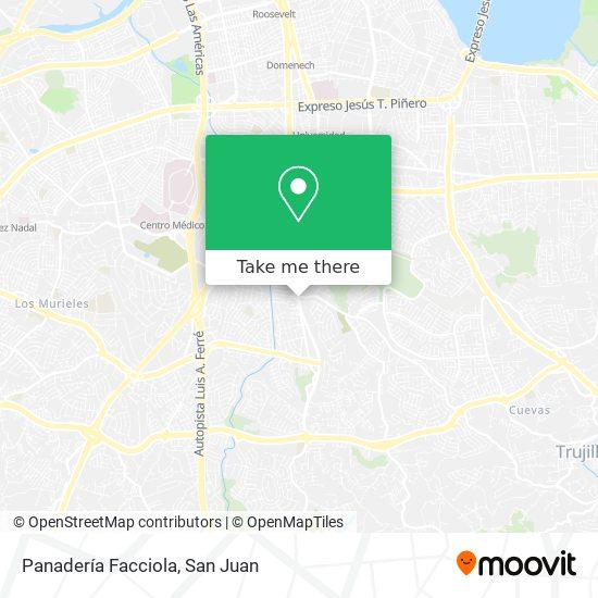 Panadería Facciola map