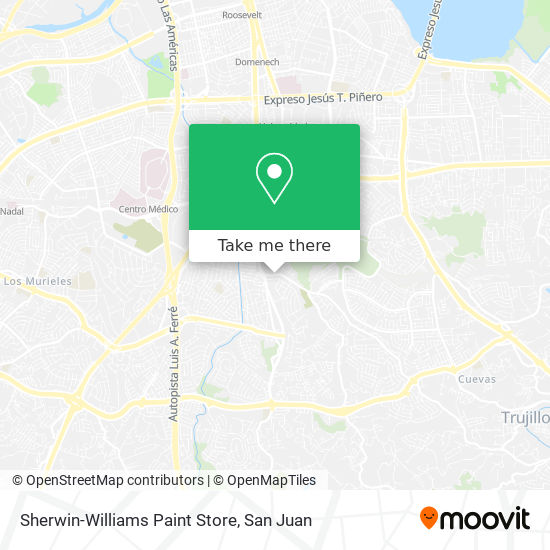 Sherwin-Williams Paint Store map