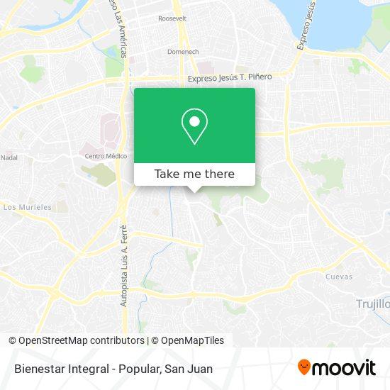 Bienestar Integral - Popular map