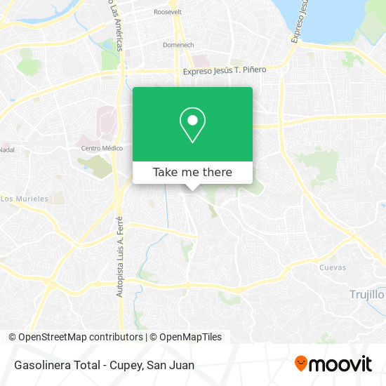 Gasolinera Total - Cupey map