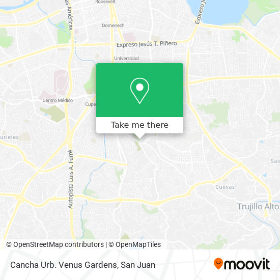 Cancha Urb. Venus Gardens map