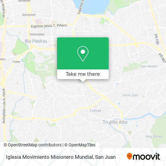 Iglesia Movimiento Misionero Mundial map