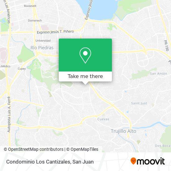 Condominio Los Cantizales map