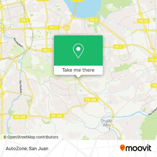 AutoZone map