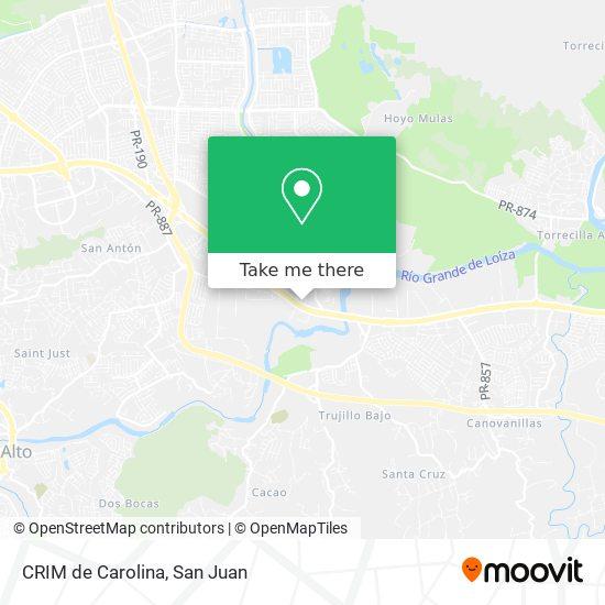 CRIM de Carolina map