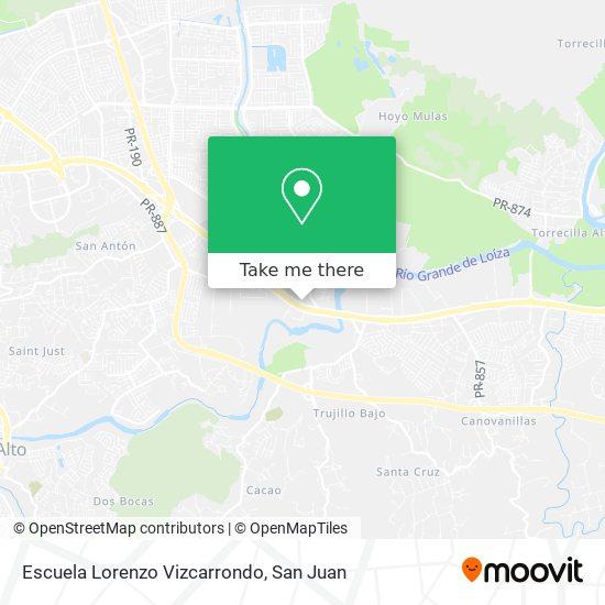 Escuela Lorenzo Vizcarrondo map