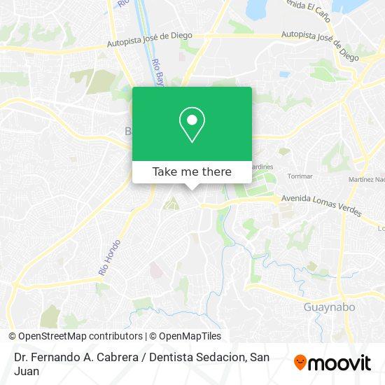 Dr. Fernando A. Cabrera / Dentista Sedacion map