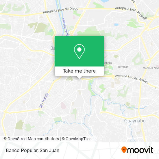 Banco Popular map