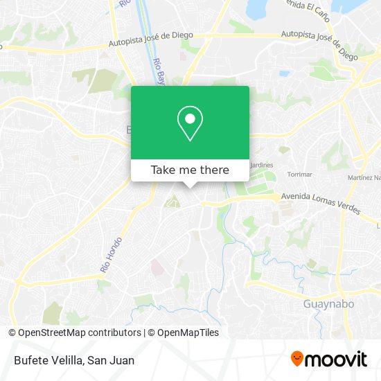 Bufete Velilla map