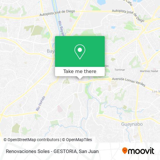 Renovaciones Soles -  GESTORIA map