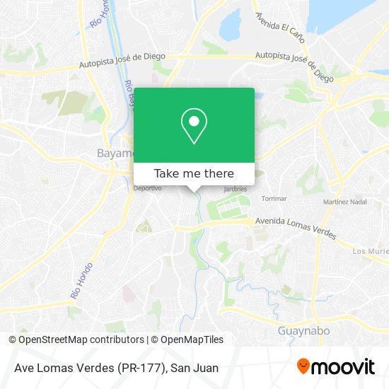 Ave Lomas Verdes (PR-177) map
