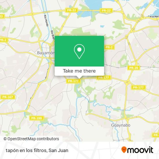 tapón en los filtros map