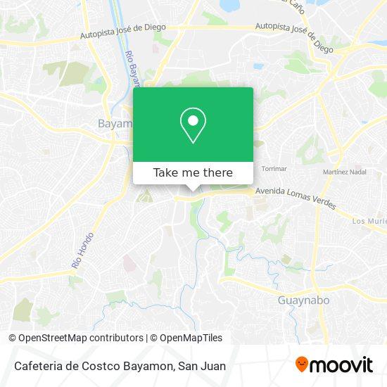 Cafeteria de Costco Bayamon map