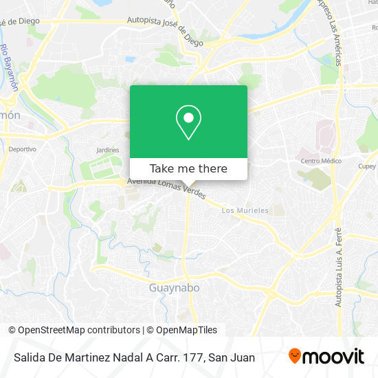 Salida De Martinez Nadal A Carr. 177 map