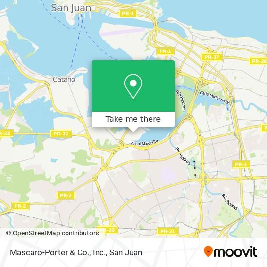 Mascaró-Porter & Co., Inc. map