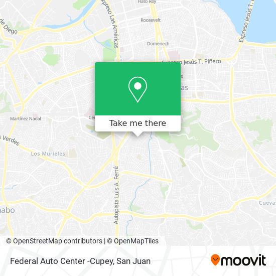 Federal Auto Center -Cupey map