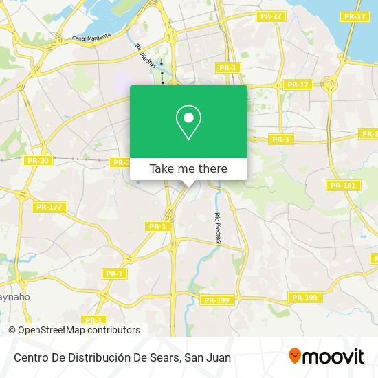 Centro De Distribución De Sears map