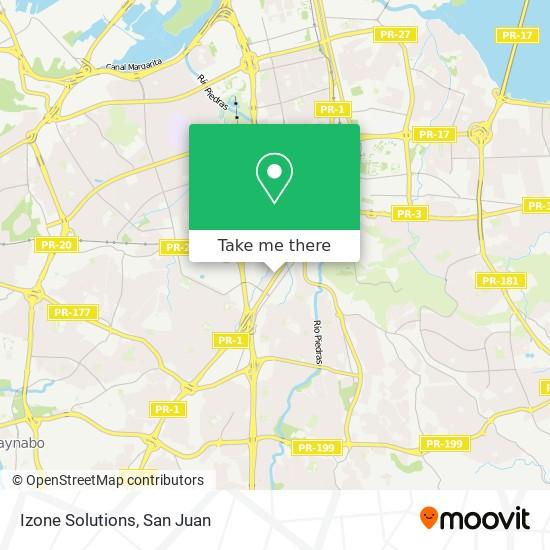 Izone Solutions map
