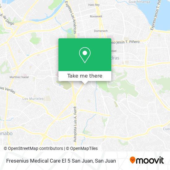 Fresenius Medical Care El 5 San Juan map