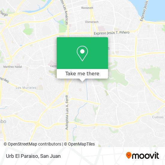 Urb El Paraiso map