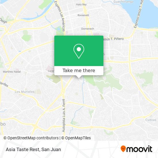 Asia Taste Rest map