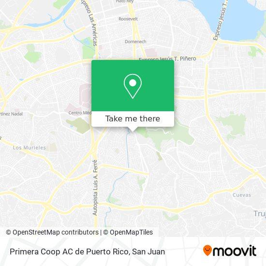 Primera Coop AC de Puerto Rico map