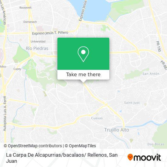 La Carpa De Alcapurrias / bacalaos/ Rellenos map