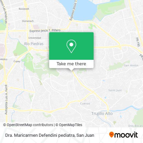 Dra. Maricarmen Defendini pediatra map