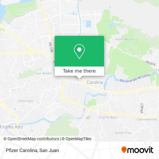 Pfizer Carolina map