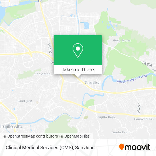 Clinical Medical Services (CMS) map
