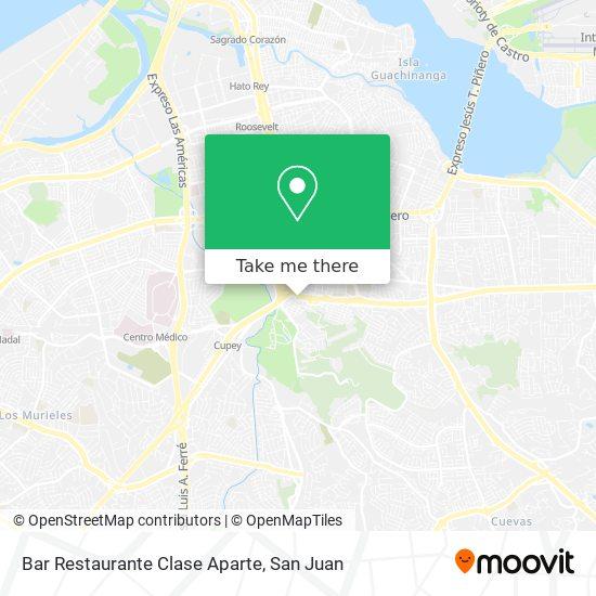 Bar Restaurante Clase Aparte map
