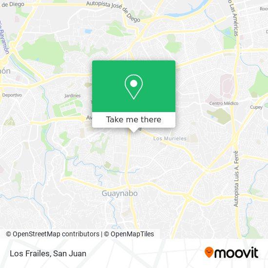 Los Frailes map
