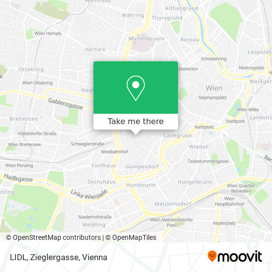 LIDL, Zieglergasse map