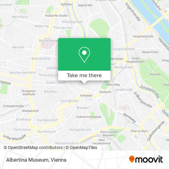 Albertina Museum map
