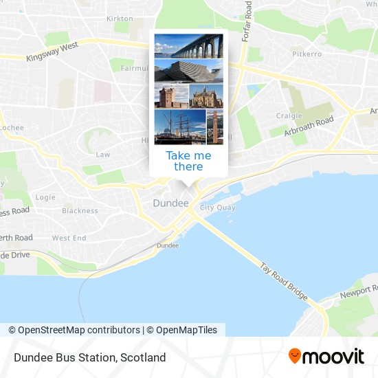 Dundee Bus Station map