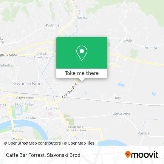 Caffe Bar Forrest map
